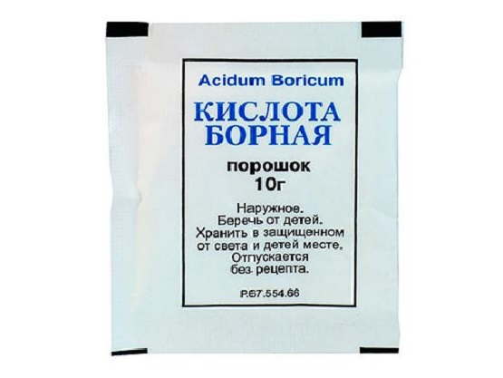 фото пакетик с борной кислотой
