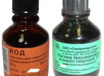 йод и зеленка от комариных укусов